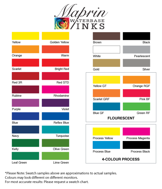Maprin Colour Chart