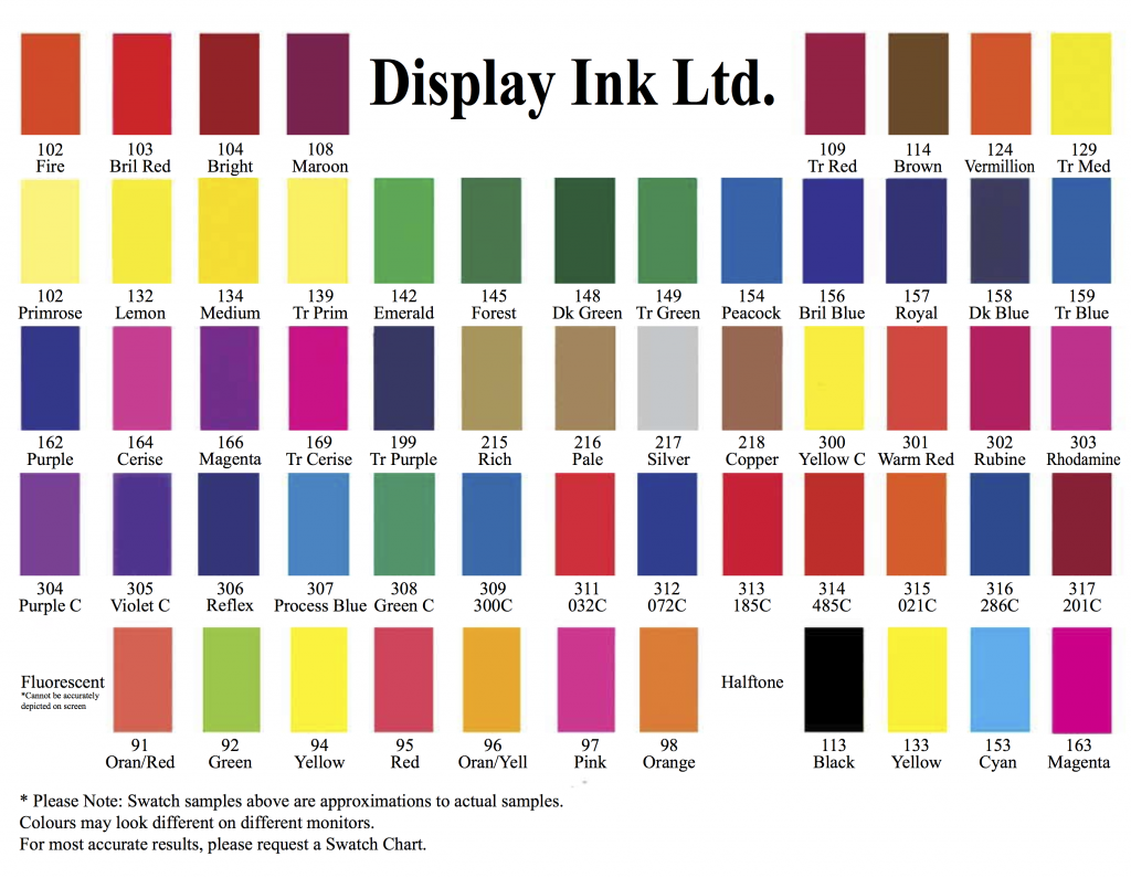 Display Colour Chart